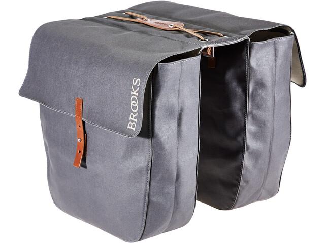 Brooks Brick Lane Roll-Up Panniers grey